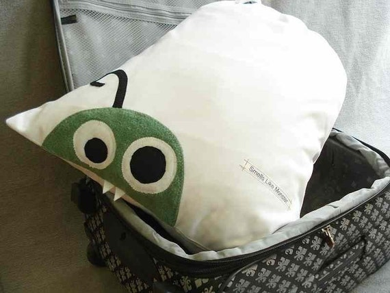 Travel Laundry Bag with Green Monster.