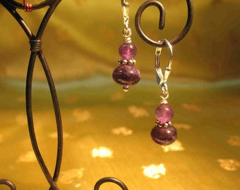 Amethyst Rondelle Earrings