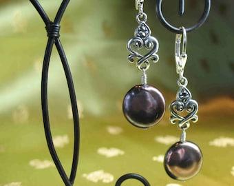 Rich Brown Pearl Earrings