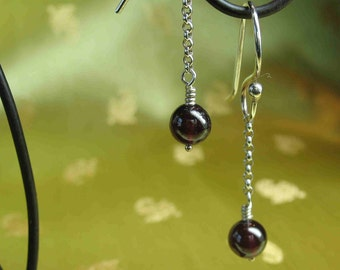 Garnet Earrings--Sale