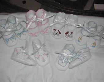 BRD in the hoop baby booties collection 1