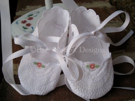 In The Hoop Embroidery Baby Shoes