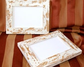 "Picture Frames 2) 4x6, 5x5, 5x7 Or 6x6  picture frames in our chippy ""Cape Cod"" style  (You Choose COLORS)...2 Dogs Wood Working"