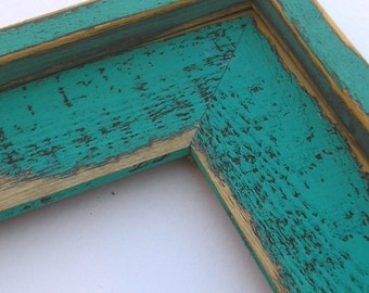 20x30 OR 22x28 picture frame distressed Colored Barnwood Chunky 3 inches wide with outside cap