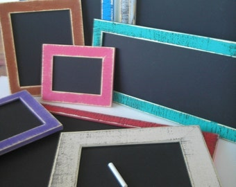 Chalkboard Picture frame package 16x20 or 16x16 Chalkboard framed choose color and style picture frame (Custom sizes, styles available)