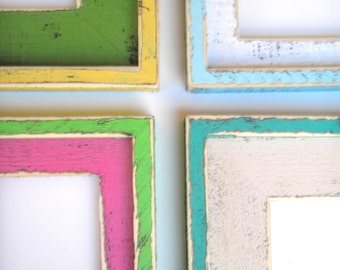 """Shabby Picture Frame 20x20 or 20x24 whimsical rustic picture frame The """"ORIGINAL"""" 2 Color Choices """"SHAKE It Up BABY"""" Choose from 63 Colors"""