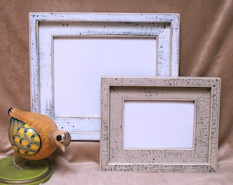 Shabby Picture Photo Frame 11x14 Or 12x12 Or 10x10 Old White Or White Weathered Distressed Barnwood ( Avail. in ANY size )