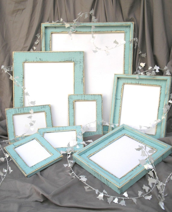 Family Picture Frame Package 9 frames total in the colored barn wood style (YOU CHOOSE COLOR)