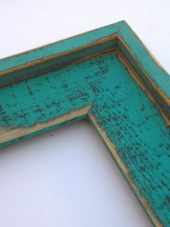 16x20 barn wood chunky wide picture frame teal turquoise for 16x20 frame