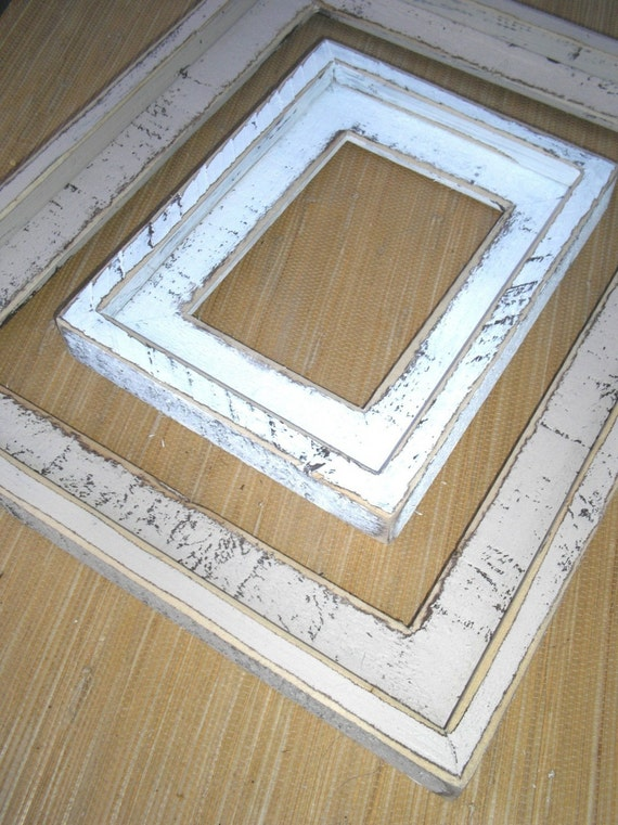 shabby chic picture frame 16x24 18x24 or 20x24 large rustic frame 63 color choices colored
