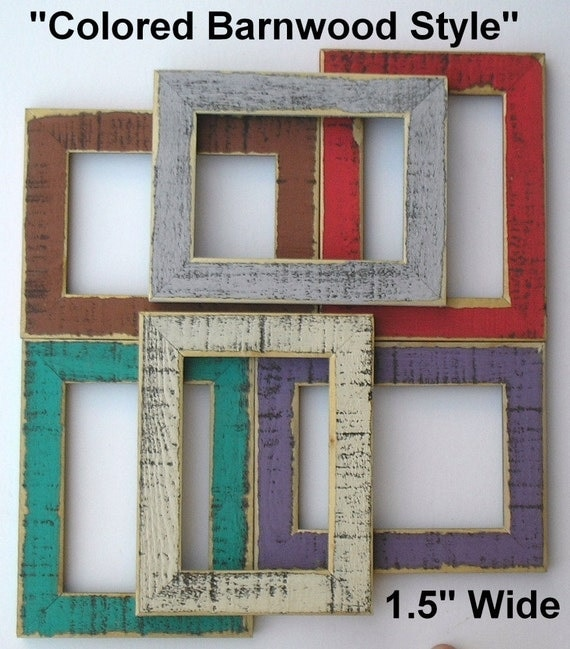 18x24 picture frame red turquoise blue brown black purple rust gray old