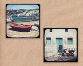 Set of Two Mini Prints: Summer in Greece