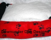 Red Paw dog bed 20 by 20 inch with waterproof PVC bottom