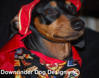 Fire Fighter 3 piece outfit custom sizes As Seen in Wiener Dog Nationals the Movie