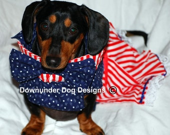 Mrs Uncle Sam dress and bow tie 2 piece