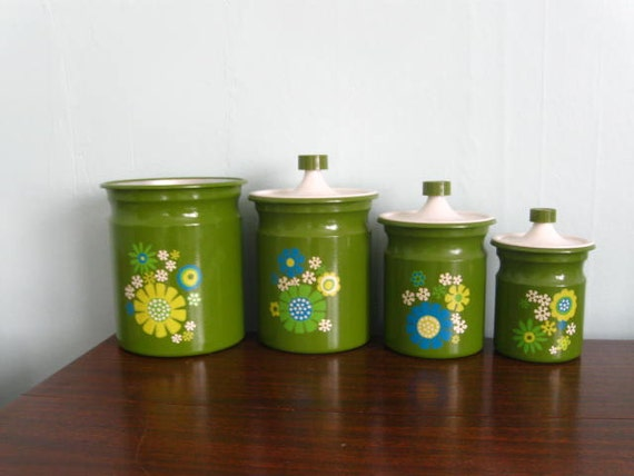 Vintage Mod Kitchen Canister Set
