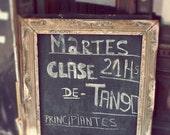 "OVERSTOCK SALE Tango photograph, Buenos Aires, Argentina print, abstract, chalkboard, dance, decor, fine art photograph 5""x7"""