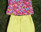 Girl's Reversible Top with shorts