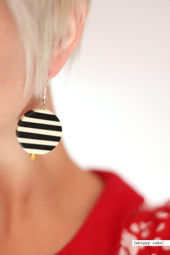 Chunky Jail Stripe Earrings