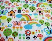 My Home Sweet Garden - Sky Blue Combo in White - EK-QS38207C