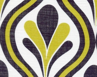 POP Sheer Cotton Fabric on Yellow/Black, Light Weight Cotton Fabric