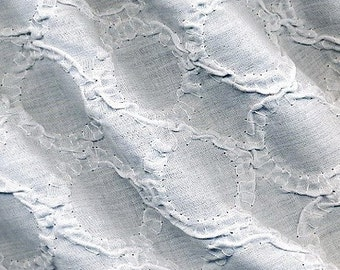 Cotton Batiste with Circle Embroidery White -- Woven Embroidery    EK-QS20005