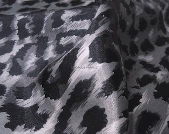 Fashion Sheen Leopard Black in Gray -- EK-QS38199