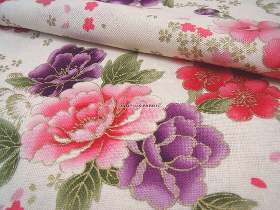 Gorgeous Peony and Pretty Sakura in Cream White -- EK-QS38230D