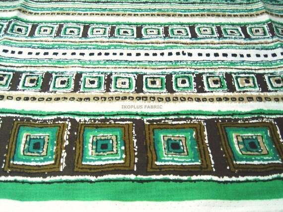 Bohemian Tribal Stripe Print - Ethnic - Green/Brown - EK-QS38241A