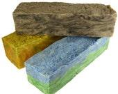 SOS - Slabs of Soap - Olive Oil - Shea Butter - Moisturizing - SAVE MONEY - crinkle cut