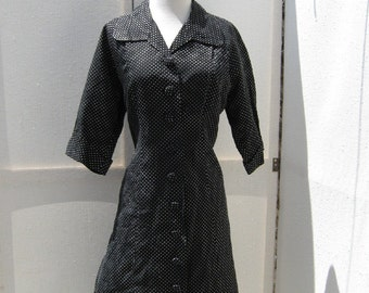 Vintage Classic Black and White Dress