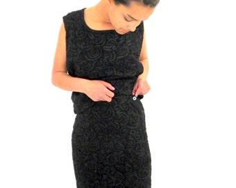 1960s Little Black Dress Top and Skirt