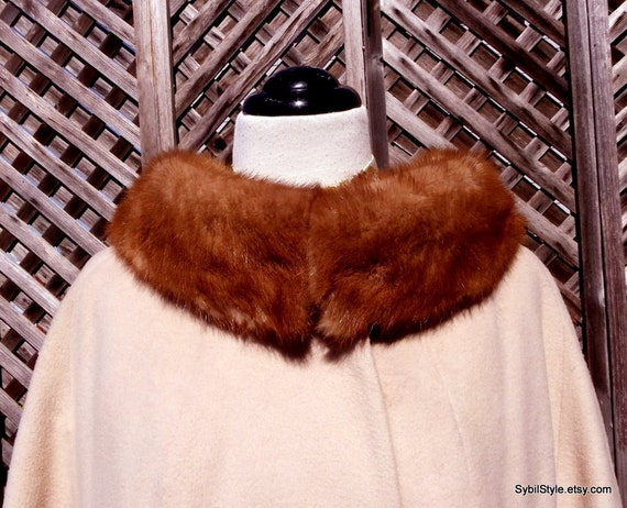 Cashmere Swing Coat with Mink Collar