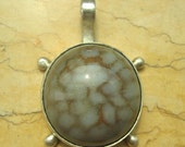 Lovely Agate Sterling Silver Jewelry Pendant