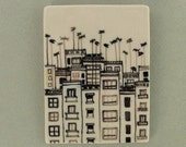Roofs and antennas 1small porcelain tile-picture