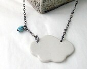 Cloud porcelain small pendant