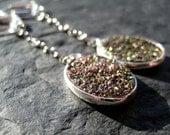 Natural Agate Titanium Druzy Earrings