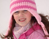 Adult size pink striped hat inspired by Edith - fun and unique stylish hat
