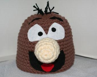Unique handmade crochet character hat  - cool and unique