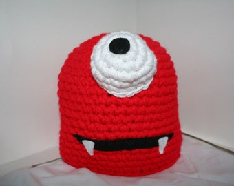 CUSTOM Handmade character hat made to look like a cyclops monster - Your choice of colors