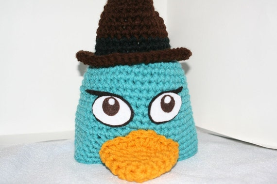 Fun character Playpus hat - cute costume or photo prop