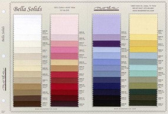 Moda Bella Color Swatch Card