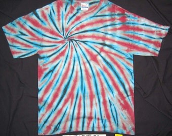Medium, 'Spiral with Silver', Original Tie-Dye