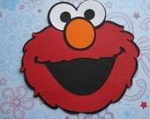 4 inch Elmo Paper Piecing Scrapbooking