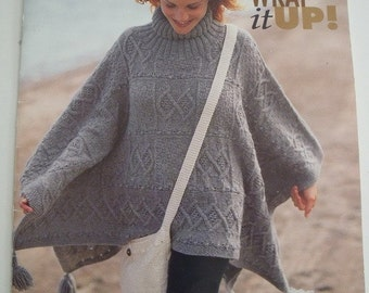 Patons Wrap it Up 7 Ponchos and Shawls to Knit 23 Page Booklet