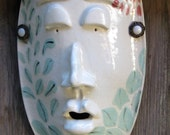 Reserved for Kellie-Nature Woman Ceramic Mask
