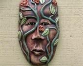 Mother Natures Sister ceramic mask