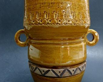 Pottery Amber Porcelain Vase/Crock