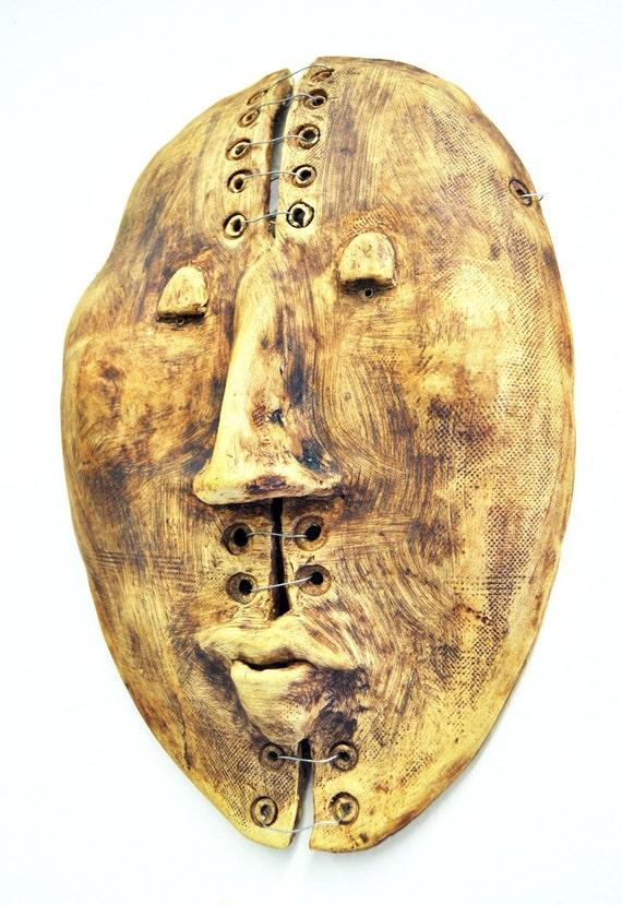 Split Personality Ceramic Mask