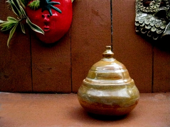 Rusty Mustard Lidded Jar